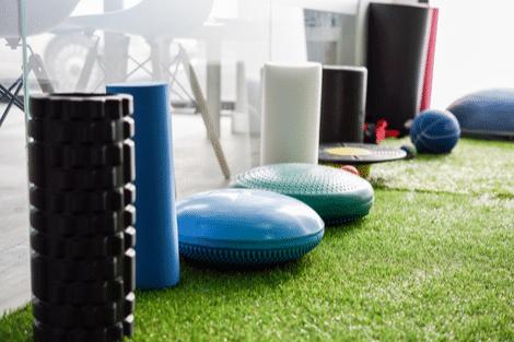 Equipment for Injury rehabilation Swansea in interior of gym